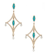 SK Archive | Pixie Earrings with Turquoise and Diamonds