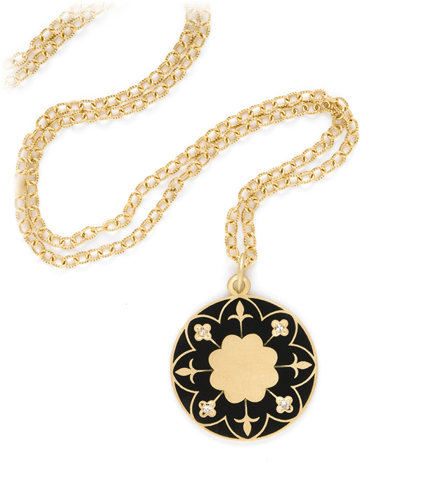 victorian mandala necklace engravable