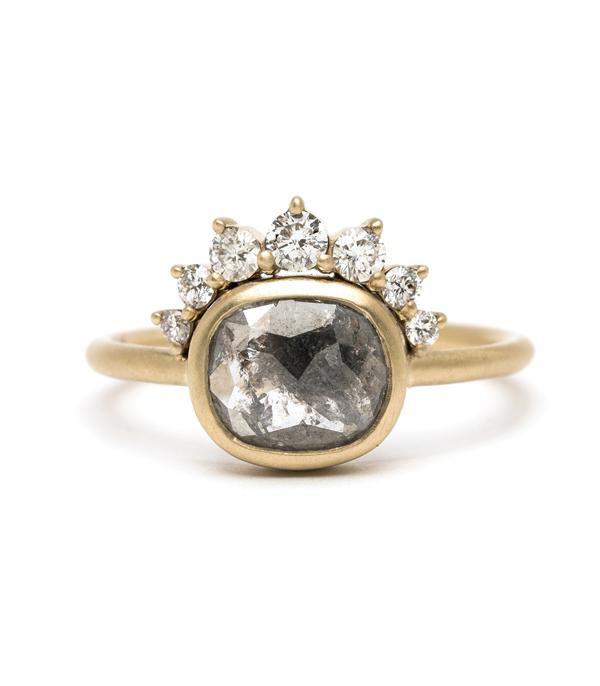 One of a Kind Bridal  Aliza  Salt and Pepper Diamond