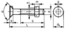 Corps a boulon avec ecrou hexagonale metrique 2
