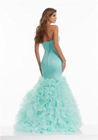 Beautiful Mermaid Sweetheart Corset Aqua Satin Organza ...