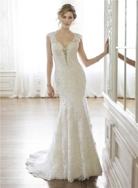 Queen Anne Wedding Dress_Wedding Dresses_dressesss