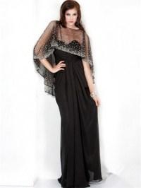 Sparkle Sheath Long Black Chiffon Evening Prom Dress With ...