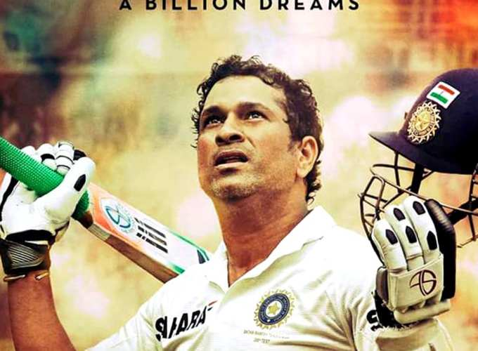 "Poster for the movie ""Sachin: A Billion Dreams"""