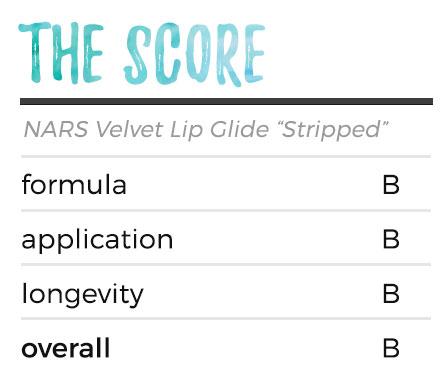 The Score - NARS Velvet Lip Glide