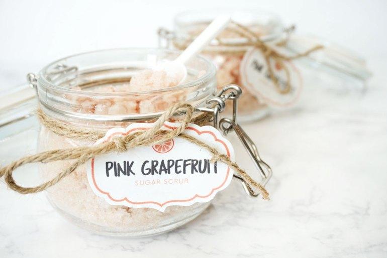DIY Pink Grapefruit Sugar Scrub