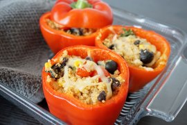 Quinoa Stuffed Bell Pepper Recipe