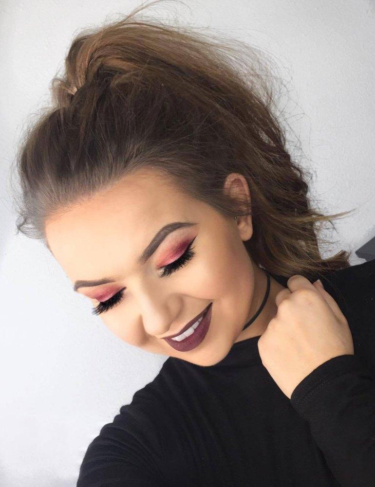 Fall Makeup Look - Cranberry Tones