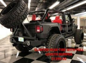Slanted Rear Tire with Carrier and Bumper- $1399.00