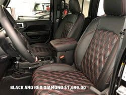 black and red diamond