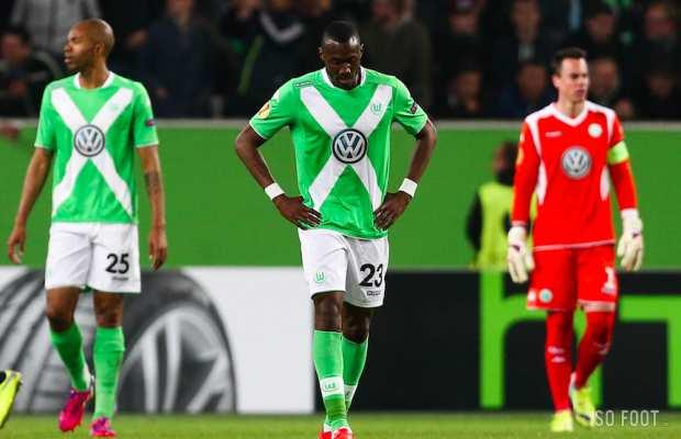 La déception des joueurs de Wolfsburg