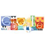 Google Doodle:Mary Blair 100歲誕辰,迪士尼藝術家、愛麗絲夢遊仙境動畫彩色設計師