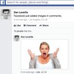 Facebook 新功能,可直接在留言中插入圖片
