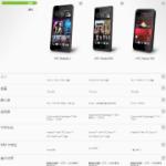 hTC 官方手機規格比較表產生器