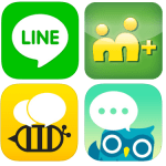 LINE, Beetalk, Cubie, m+ 即時通訊軟體大車拼