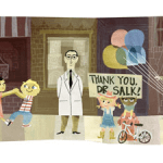[Google Doodle] Jonas Salk 沙克疫苗發現者 100 歲誕辰