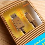 超療癒!Cheero 阿愣 micro USB 充電線,眼睛會發亮耶!