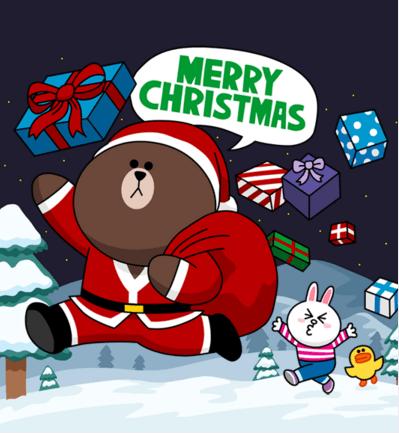 秒速送達的祝福~LINE 電腦版送聖誕卡、新年卡給親朋好友 line-christmas