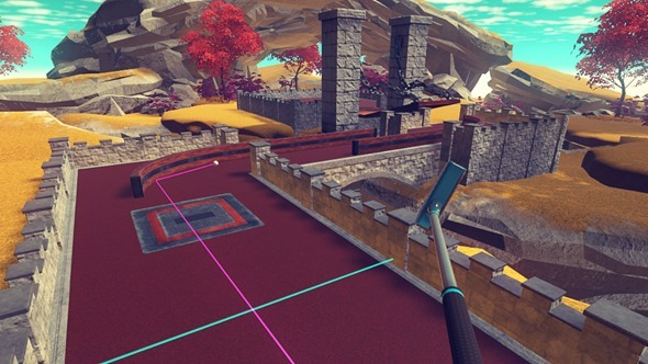 台北電玩展體驗 HTC VIVE Pre 遊戲,現場 PK 勝者送 HTC RE 防水攝錄機! cloudlands-vr-minigolf