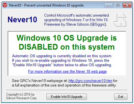 如何禁止 Windows 7/8/8.1 自動更新/升級到 Windows 10 disable-windows-10-os-upgrade