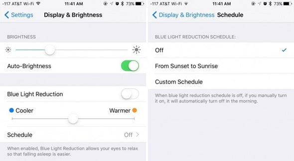 iOS 9.3 的 Night Shift 夜間變換色溫功能將受低耗電模式限制 nightshiftmodeios93-800x440