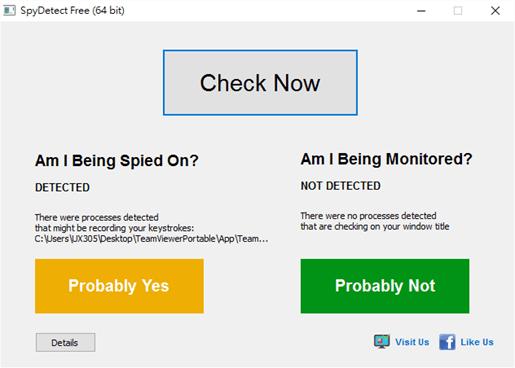 我的電腦被監控、追蹤了嗎?SpyDetect 免費軟體60秒幫你完成檢測 6-2