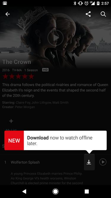Netflix 影片可以下載到手機儲存啦!睡覺前快把想看的影片存下來吧 downloading