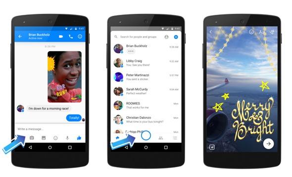 Facebook Messenger相機大改版,新增在地化貼圖和3D變臉效果 newsroom-1