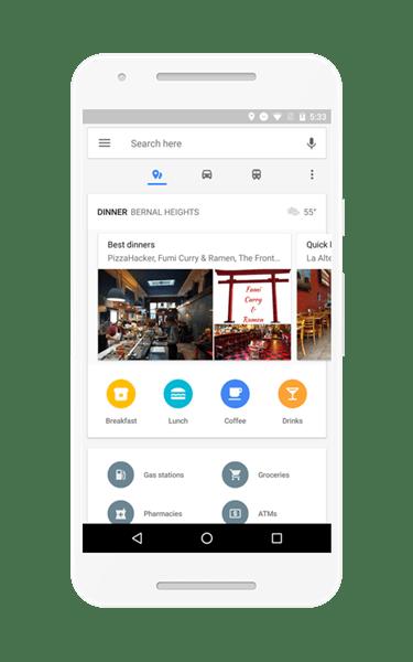 路況、餐廳點指即找!Google地圖App新增即時通勤資訊,Android獨享 homescreen_US_pixel_places