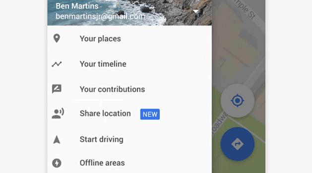 Google地圖推出即時位置共享功能,方便與好友、家人分享位置 028