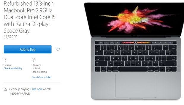 MacBook Pro(具備 Touch Bar) 官方整新品上架,只要原價 85 折享免運及一年保固 009-1