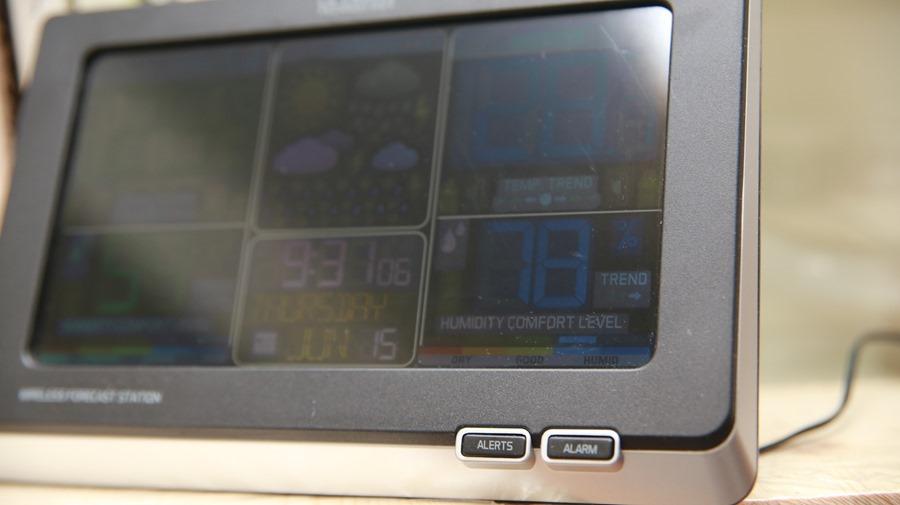 好市多 無線彩色電子氣象偵測計