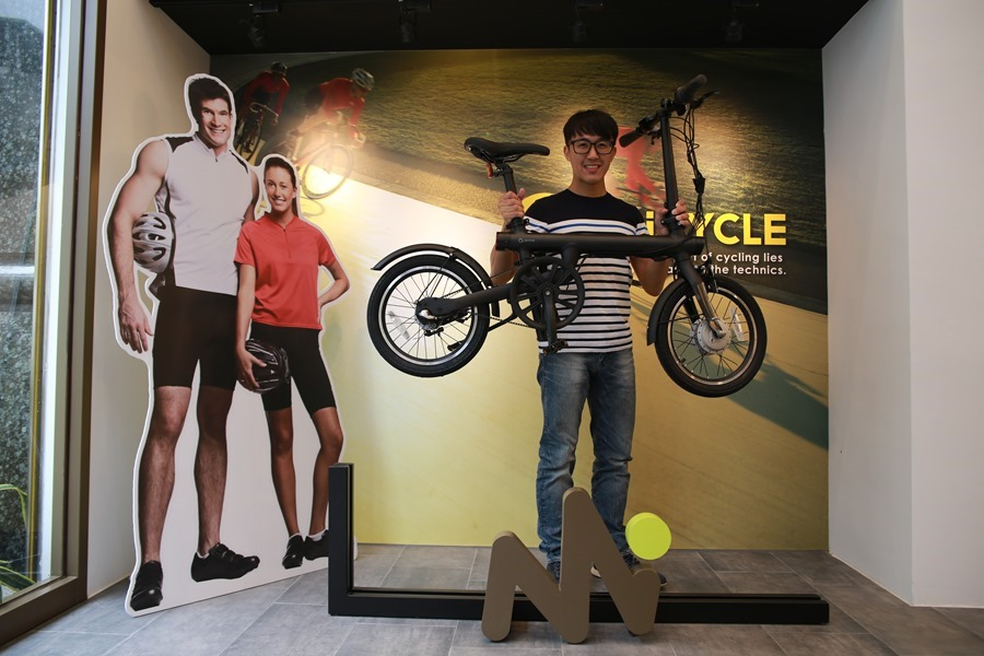 越騎越賺錢的自行車!米騎生活體驗門市+騎記電助力摺疊自行車國際版試乘分享 IMG_6793
