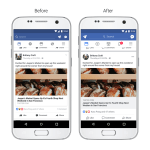 Facebook App 介面設計更新,提升閱讀體驗