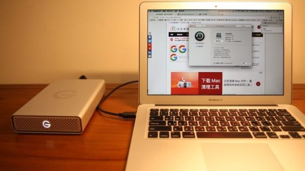 G-Technology G-Drive USB-C 外接硬碟評測,擴充容量同時還能幫筆電充電,支援 Time Machine備份 IMG_7422