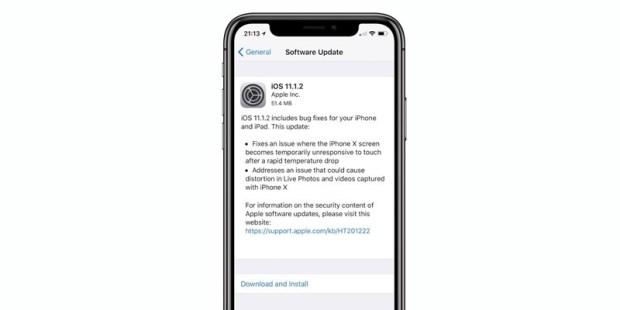 iOS 11.1.2 釋出,解決低溫下 iPhone X 螢幕失靈的問題 ios-11-1-2
