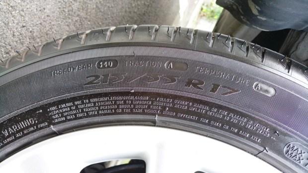 輪胎上的數字,你知道是什麼嗎? IMAG0892