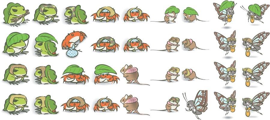 旅行青蛙(旅かえる) 史上最完整攻略解析 frog-characters