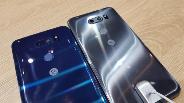 [MWC 2018] 不與爭鋒? LG 在 MWC 僅推出小改款 V30S ThinQ 系列手機,主打相機 AI 功能 20180226_092845