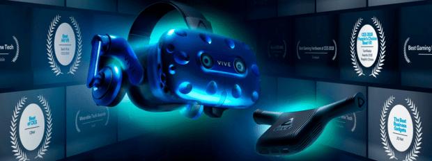 [MWC 2018] HTC VIVE Pro+VIVE 無線模組,擺脫線材體驗自由度大增 HTC-VIVE-PRO