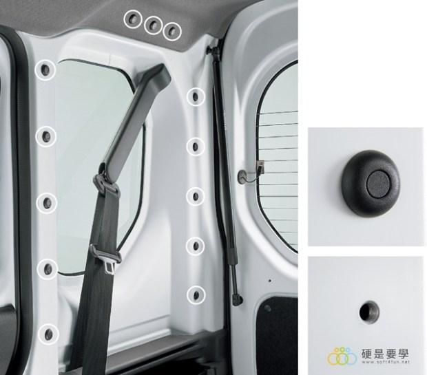 麵包車新選擇,Honda N-Van 搶攻日本輕型商用車市場 固定孔