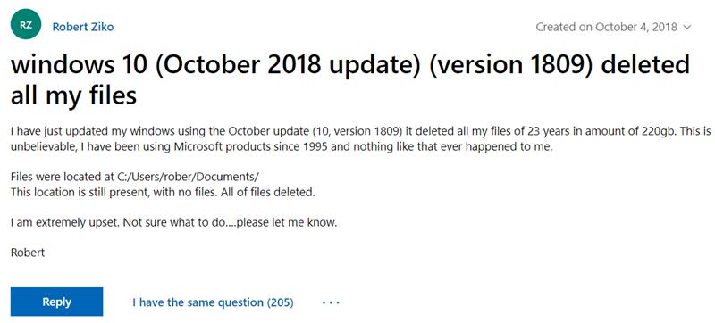 重要!Windows 10 最新版本(1809版)升級後可能會自動刪除個人檔案(更新) Image-011