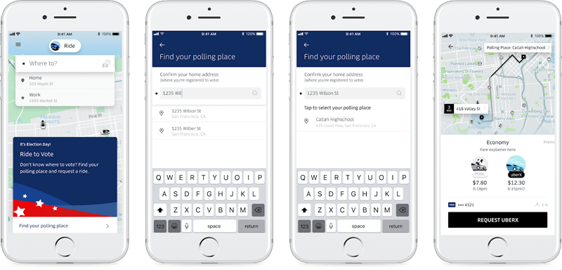 美國大選期間 Uber 將提供民眾免費搭乘至投票處 uber-poll-free-ride
