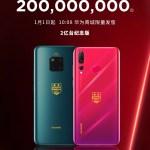 華為手機 2018 年出貨破 2 億台,將於1/1 推出 Mate20 Pro 及 Nova 4 特別版