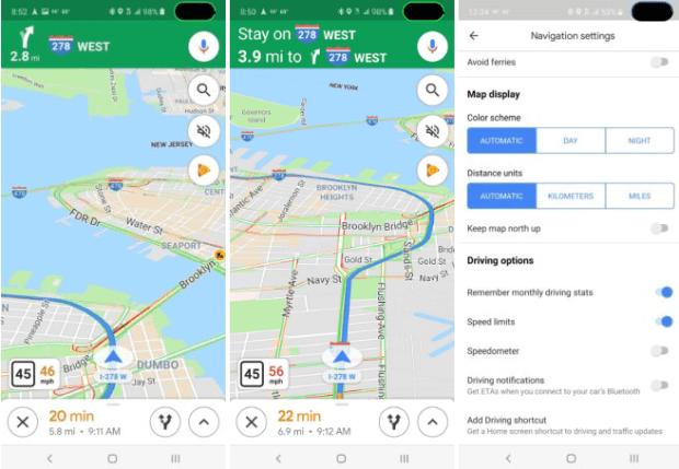 Google地圖將顯示行車速度,依速度自動改變警示顏色 image