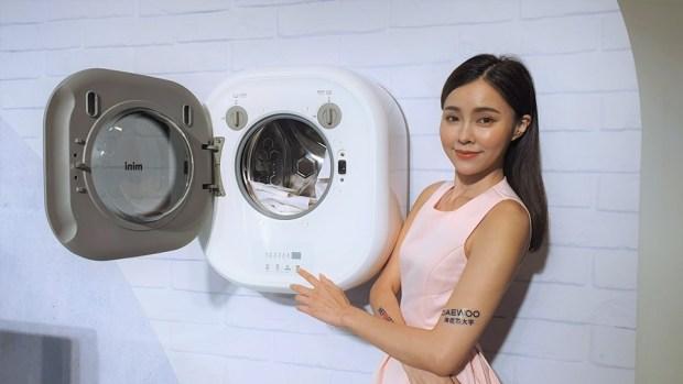 韓流來襲,DAEWOO 煒伲雅大宇在台推出世界首創「壁掛式洗衣機」,體積超迷你隨處好安裝 20190723_145601