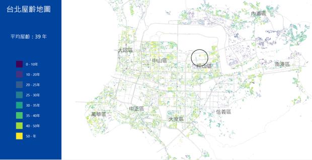 台北市區究竟有多「老」?台北屋齡地圖一次解析 image-1