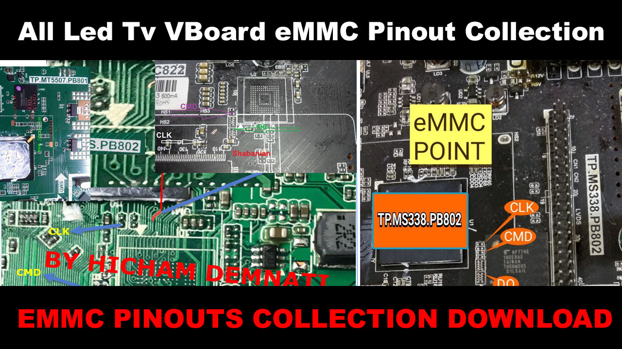 All Smart Led Tv Board Emmc Pinout Collection Free Download
