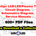 Philips LCD/LED/Plasma TV Circuit/Schematics Diagram, Service Manual