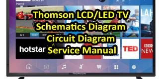 Thomson LCD/LED TV Schematics Diagram